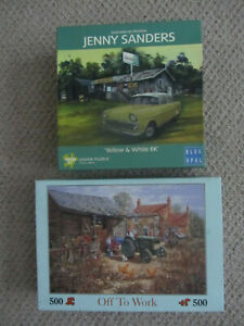 2 Nostalgia Scene Puzzles, 1 x 1000, 1 x 500 Pieces