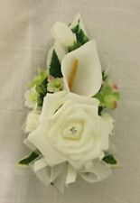 ivory Rose & Cala Lily corsage wedding flowers or prom