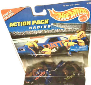 ACTION PACK RACING With Crew HotWheels Mattel Race to Victory 1st Issue 1996 NB!