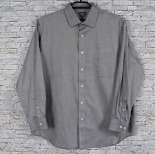 Croft & Barrow Mens 18  34/35 Gray L/S Non Iron Cotton Dress Shirt  S994