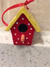 Mary Englebreit Miniature Birdhouse Red Ornament