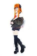 Persona5 Futaba Sakura Orange Wig Cosplay Wig With Hairnet
