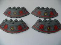 Lego 4 1/4 rond gris fonce bluish 70504 / 4 dark bluish round wedge decorated