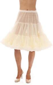 Knee Length CHIFFON NYLON Crinoline Petticoat sm/med or large made  USA
