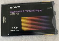 Sony MSAC-PC2 PCMCIA-Adapterkarte für Memory Stick CARD ADAPTER notebook mac pc