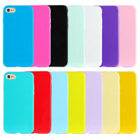For Apple iPhone Case 8 7 5 5c SE 6s Plus Candy Color Silicone Soft Back Cover