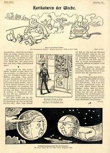 Anti-britische Karikaturen Burenkrieg Englische Pantomime Musik Paul Krüger 1899