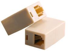 2x Kupplung Adapter Verlängerung Verbindung RJ11 Telefon Festnetz Buchse 6p4c