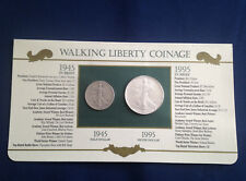 1945-1995 Walking Liberty Half Dollar American Silver Eagle Collection E5383