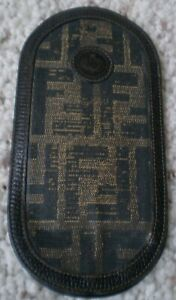 FENDI ZUCCA PRINT BROWN EYEGLASS CASE ONLY ITALY READERS SOFT NEIMAN MARCUS