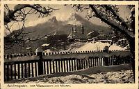 Feldpostkarte Berchtesgaden 1946 gelaufen Überprüft Zensur Stemel n/ Rosenheim