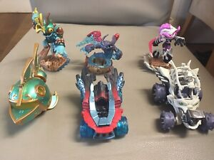 Skylanders Superchargers Bone Bash Roller Brawl &Tomb Buggy and 2 other sets