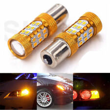 2pcs Amber 1156 7506 1156A P21W BA15S 27-SMD LED Bulbs For Car Turn Signal Light