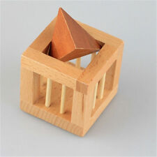 Triangle 3D Wooden Interlocking Burr Puzzles IQ Brain Teaser Game Toy For Kids