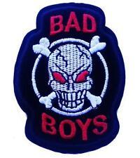 BAD BOYS SKULL IRON ON EMBROIDERED PATCH BUY 2 GET 1 FREE - BIKER MC VEST JACKET