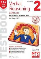 11+ Verbal Reasoning Year 5-7 CEM Style Testbook 2: Verbal Ability 20 Minute Tes