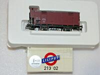 """Liliput H0 213 02 Gedeckter Güterwagen """"G10 102442"""" mit Federpuffer der DR (K73)"""