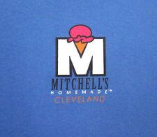 MITCHELL's HOMEMADE ice cream cone med T shirt Cleveland logo tee OHIO dairy