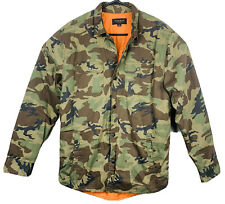 PACSUN Camouflage Military Jacket Blaze Orange Quilted Lining Mens Size M EUC