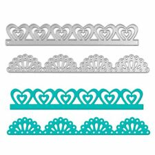 2Pcs/set Flower Border Metal Cutting Dies Stencil Scrapbooking Album Card Craft