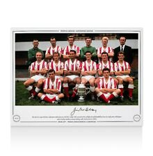 Jimmy McIlroy Signed Stoke City Photo - 1962/63 League Division 2 Champions
