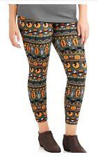d10657452b80a Faded Glory Plus Size HALLOWEEN Leggings 2X 18/20 Womens Pumpkins Softbrush  NWT