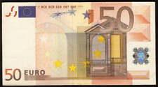 riotis 4491: VERY RARE IRELAND (T) 50 EURO 2002, P-4t, -AU, DUISENBURG SIGN