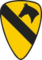 U.S. Army 1st Cavalry Division Wall Window Vinyl Decal Sticker Military