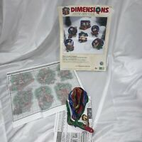 Dimensions FROSTY FRIENDS CHRISTMAS ORNAMENTS Counted Cross Stitch KIT