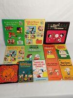 Lot Of 12 Vintage Charles M Schulz Peanuts Books Charlie Brown