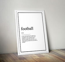 Football definition, print, poster, Fan, wall art, gift, Team, Quote, Picture