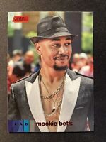 2020 Topps Stadium Club-Mookie Betts-RED FOIL PARALLEL- Los Angeles Dodgers #218