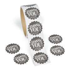 100 CHALKBOARD THANK YOU Stickers BIRTHDAY PARTY wedding cards