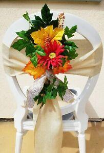 Fall Bride Wedding Chair Pew Decorations