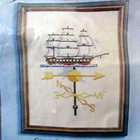 Counted Cross Stitch Kit Jessa Counts Sailing Ship Weathervane Vintage 1981