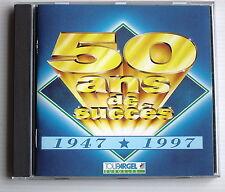 50 ANS DE SUCCES .1947 / 1997.DALIDA,C.FRANCOIS,HALLYDAY,BRANT. CD publicitaire