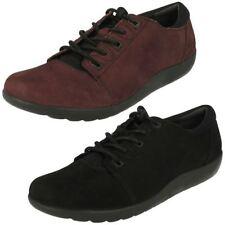 Zapatos planos con cordones de mujer Clarks