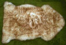 LARGE - CARAMEL TIPPED - 100% GENUINE AUSTRALIAN SHEEPSKIN RUG