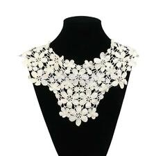 Crochet Cotton Neckline Neck Flower Venise Collar Sewing Craft Applique Trim