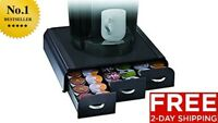 MIND READER TRIPLE DRAWER SINGLE SERVE COFFEE POD HOLDER K-CUP KEURIG STORAGE