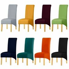 Chair Cover Stretch Spandex Fabric Long Back Decor Restaurant Hotel Slipcovers