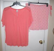 Ladies 2 Pc 1 X Pajama Set by Croft & Barrow Size 2 x NWT