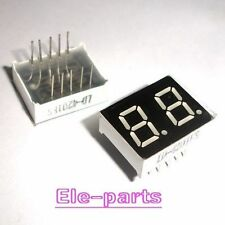 10 PCS 2 Digits 0.4 INCH RED NUMERIC LED DISPLAY COMMON ANODE 10 Pins 2 Digit