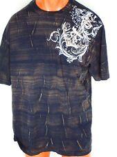 Kanji Black Beige Shirt Top Tee 4XL White Embroidery Rallji Collection