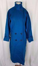 Jill Jr. Winter Wool Funnel Neck Double Breasted Long Maxi Coat Peacoat Womens L