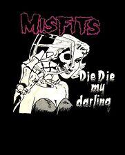 THE MISFITS cd cvr DIE DIE MY DARLING Official SHIRT MED New danzig samhain