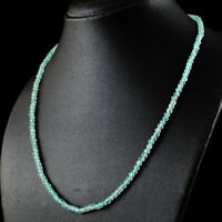 79.50 Cts Earth Mined Single Strand Blue Aquamarine Round Cut Beads Necklace