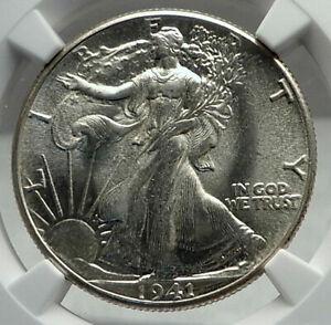 1941 UNITED STATES US Silver WALKING LIBERTY Half Dollar Coin EAGLE NGC i79602