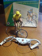 VINTAGE 1969 FRANCE JOUET CYCLISTE TELEGUIDE TELE GUIDONE