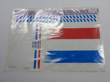 724106 Multiplex MPX Blue White Red Sticker Decal Sheet For: Twin-Jet RC Plane